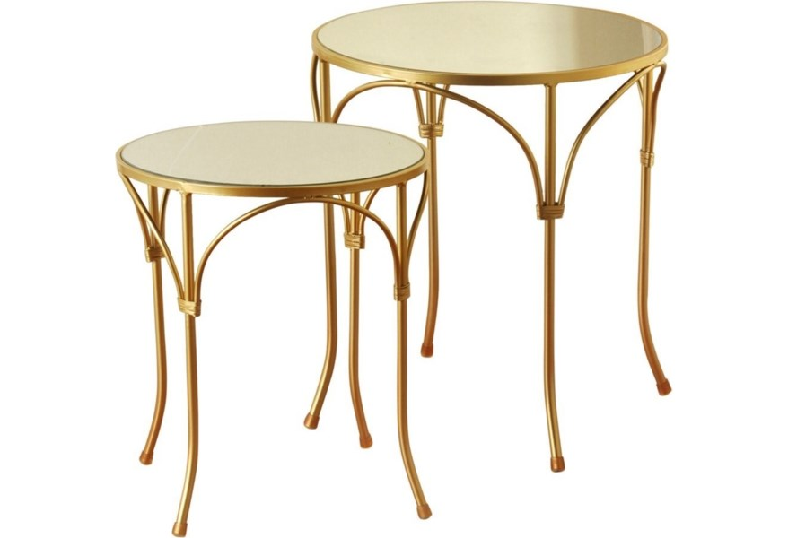 Stylecraft Occasional Tables Set Of 2 End With Mirror