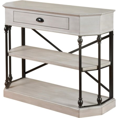 Clipped Corner Console Table