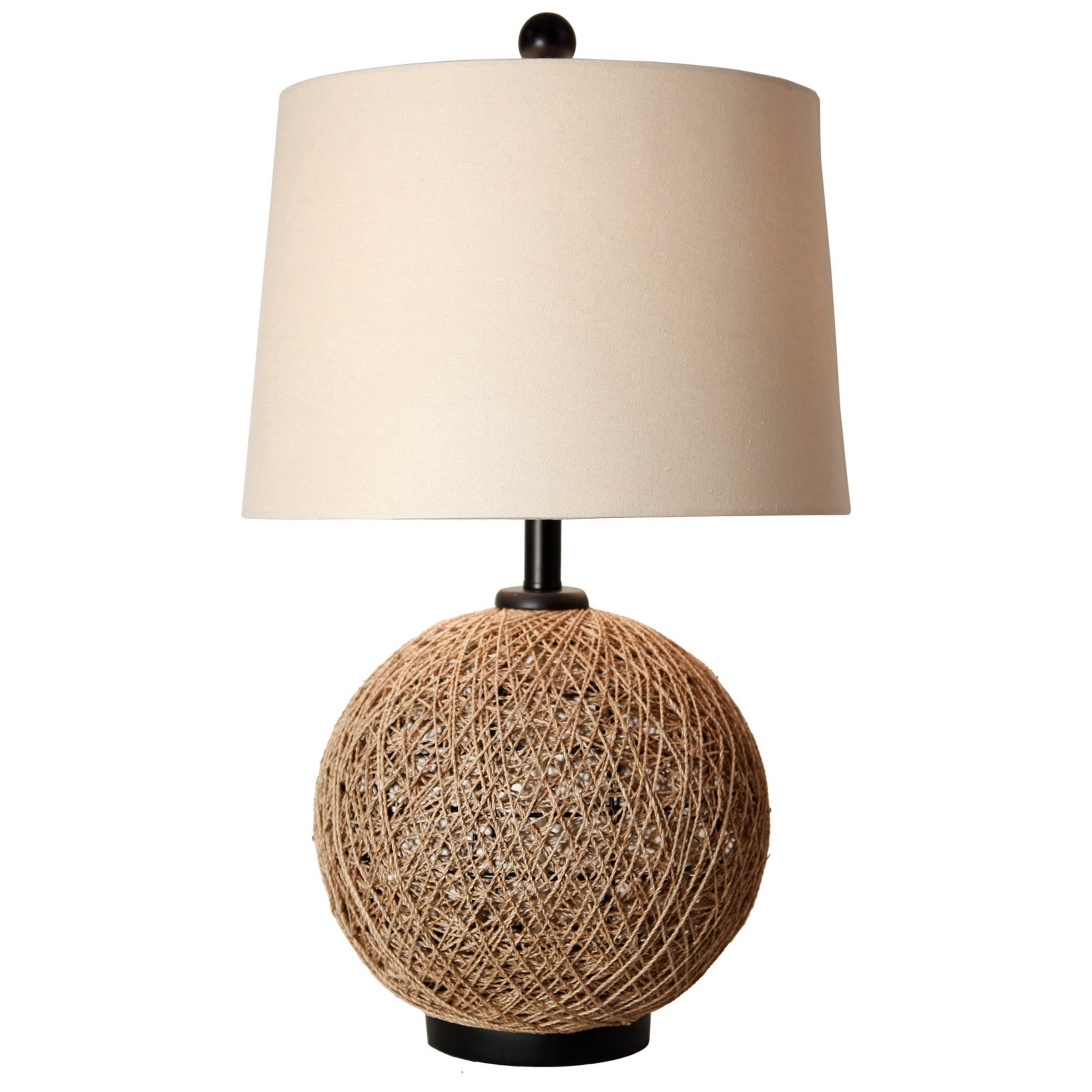 StyleCraft Lamps CJT1041 Woven Natural Rattan Ball Table Lamp | Household  Furniture | Table Lamps