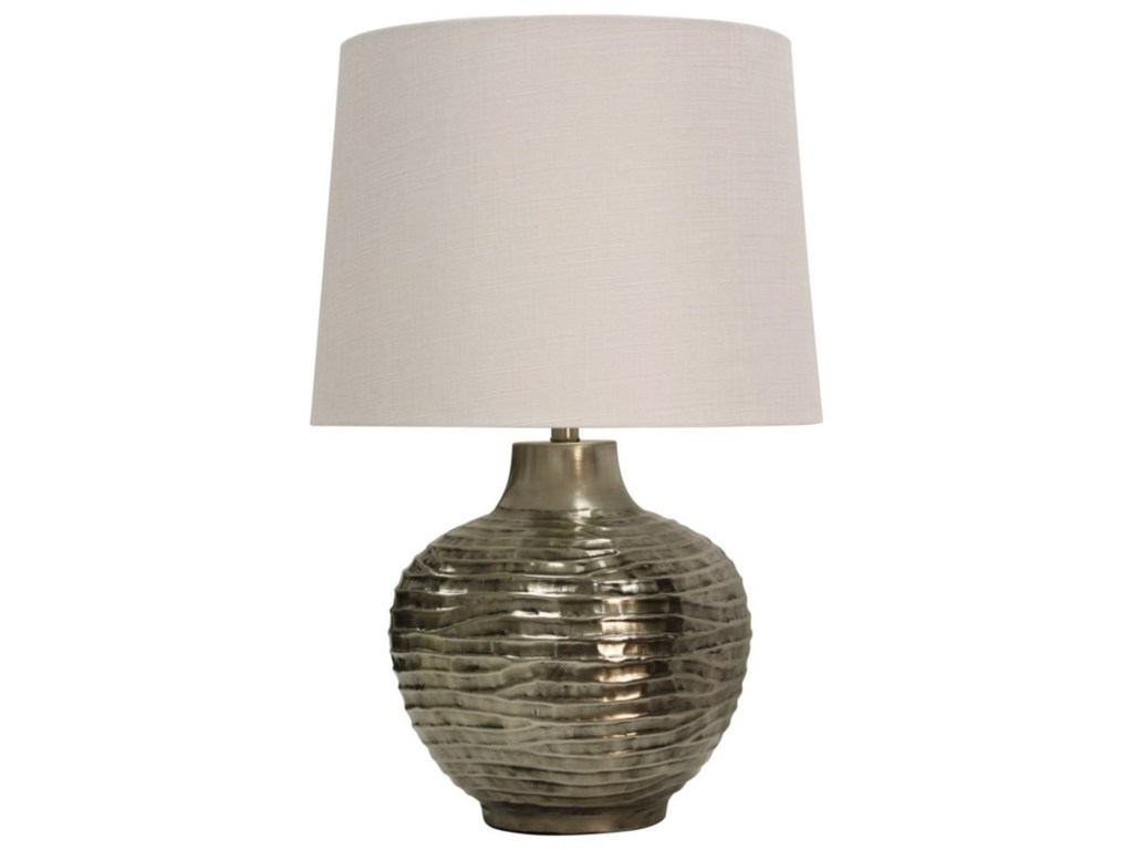Lamps Aged Silver Lamp With Wave Design By Stylecraft At Becker Furniture World