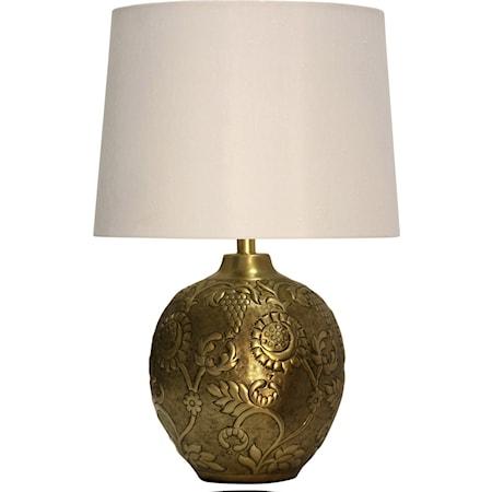 Antique Embossed Metal Lamp