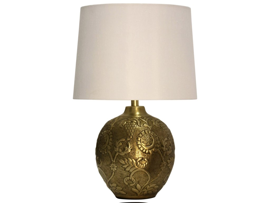StyleCraft LampsAntique Embossed Metal Lamp