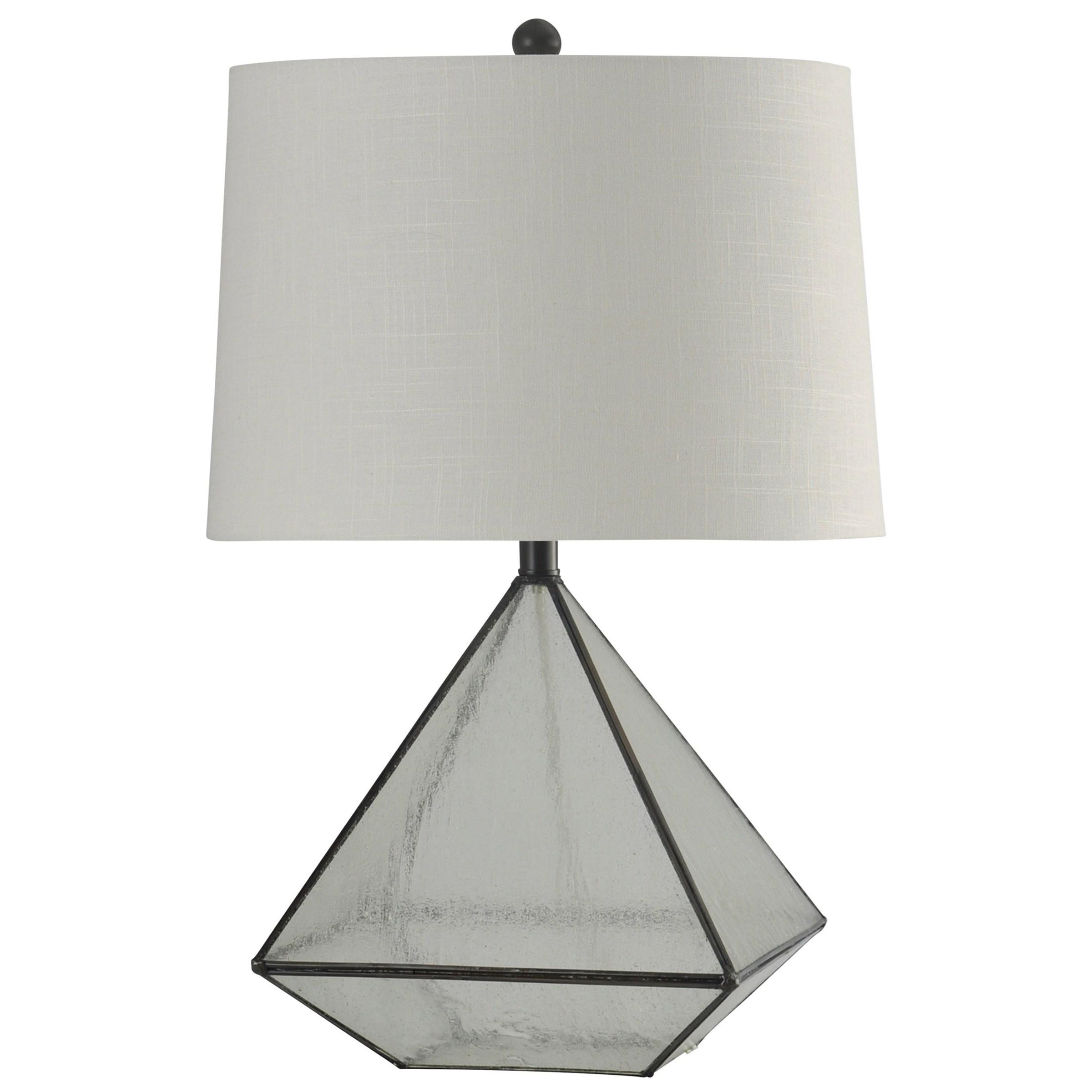 StyleCraft Lamps Medallion Glass Pane Table Lamp