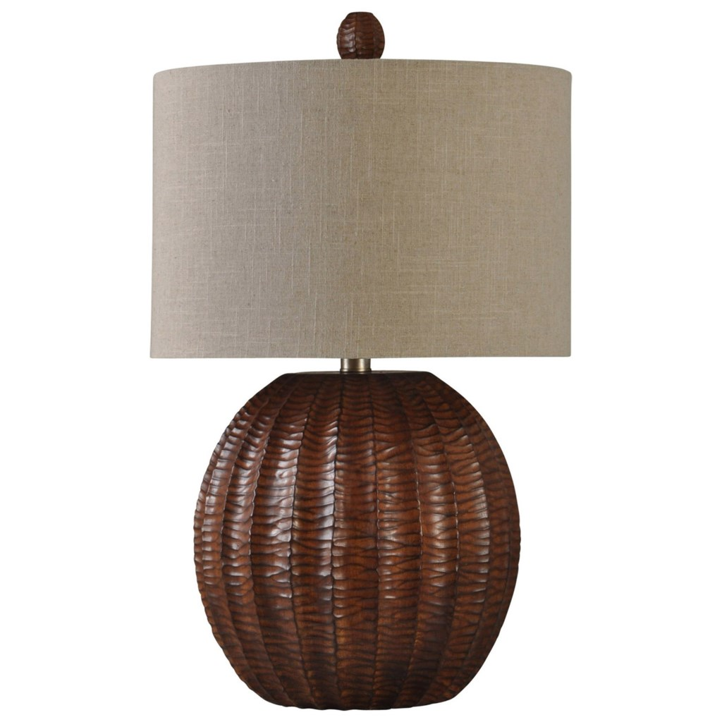 Stylecraft Lamps Wood Brown Finish Table Lamp Value City Furniture