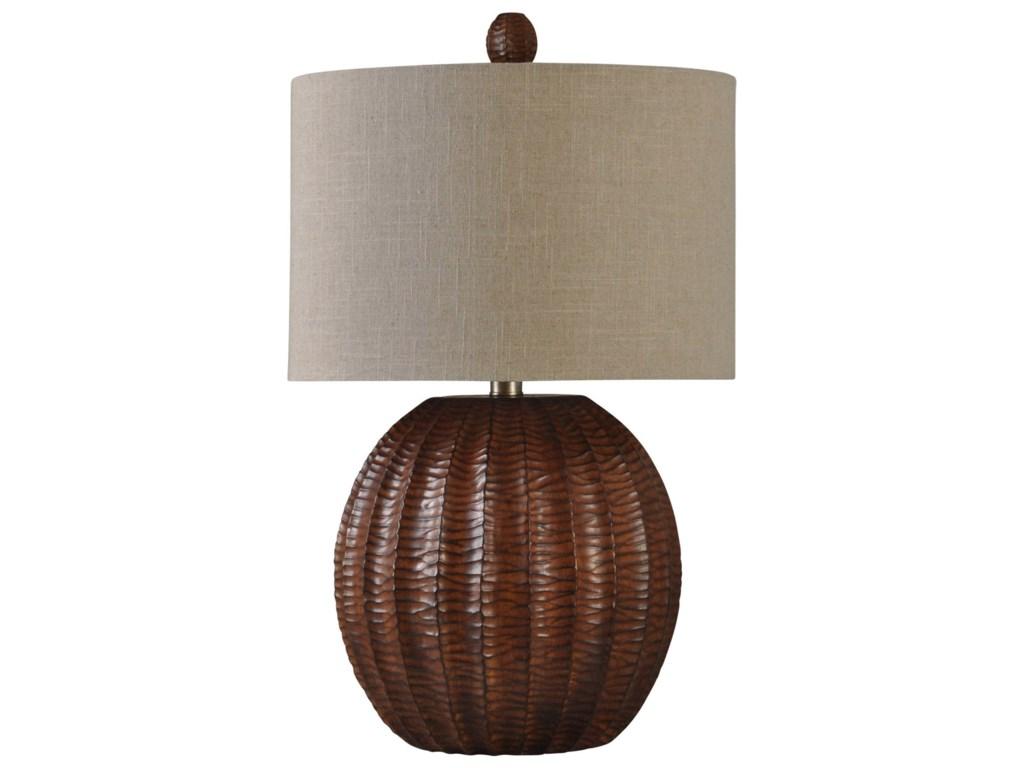 Stylecraft lamps wood brown finish table lamp value city furniture stylecraft lampswood brown finish table lamp aloadofball Images