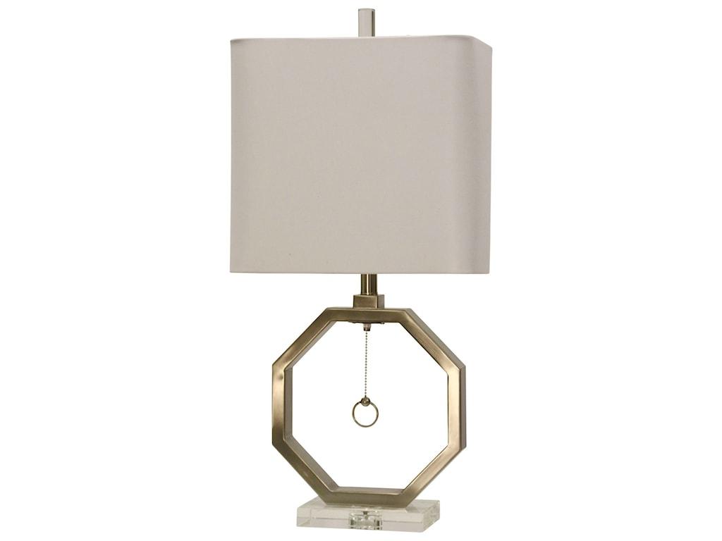 StyleCraft LampsBrushed Steel Octagon Lamp
