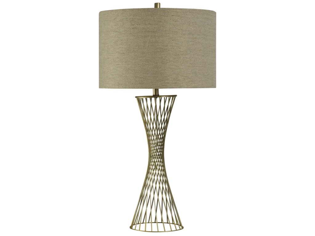 StyleCraft LampsTwisted Metal Table Lamp