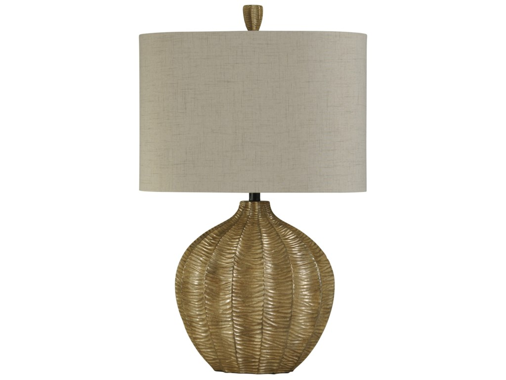 StyleCraft LampsHand Carved Contemporary Table Lamp