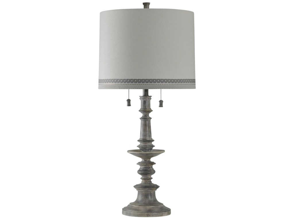 Stylecraft lamps l311009 washed gray table lamp hudsons furniture stylecraft lampswashed gray table lamp aloadofball Images