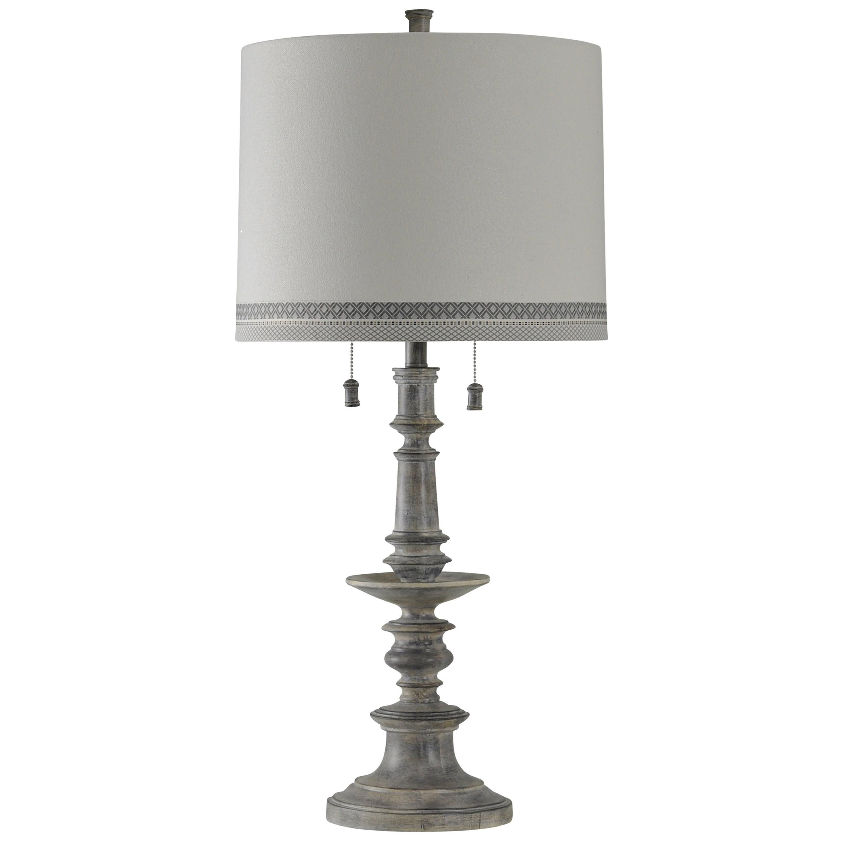 StyleCraft LampsWashed Gray Table Lamp