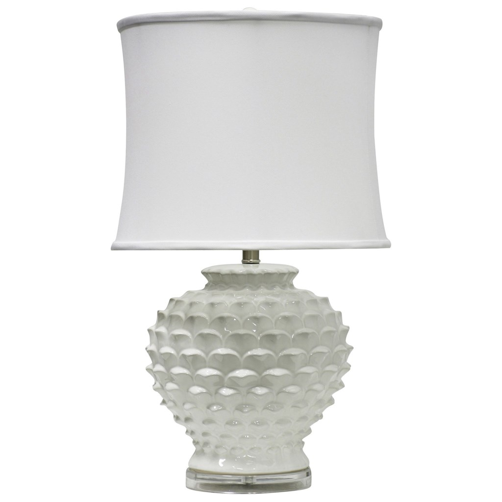 Stylecraft Lamps L311320 White Ceramic Table Lamp Household