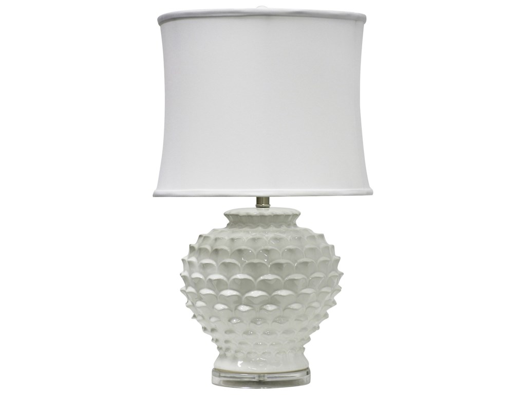 StyleCraft LampsWhite Ceramic Table Lamp