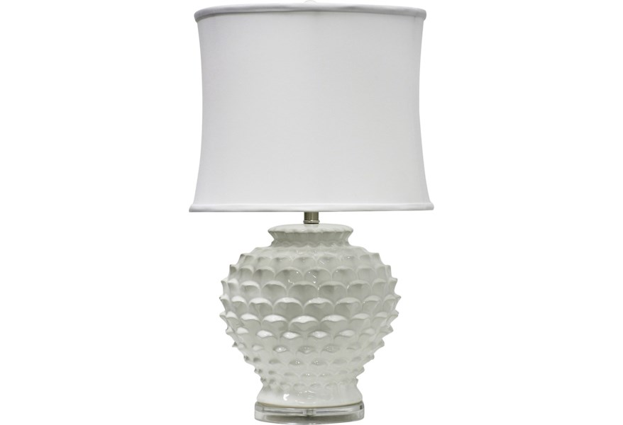 Stylecraft Lamps White Ceramic Table Lamp Wilcox Furniture