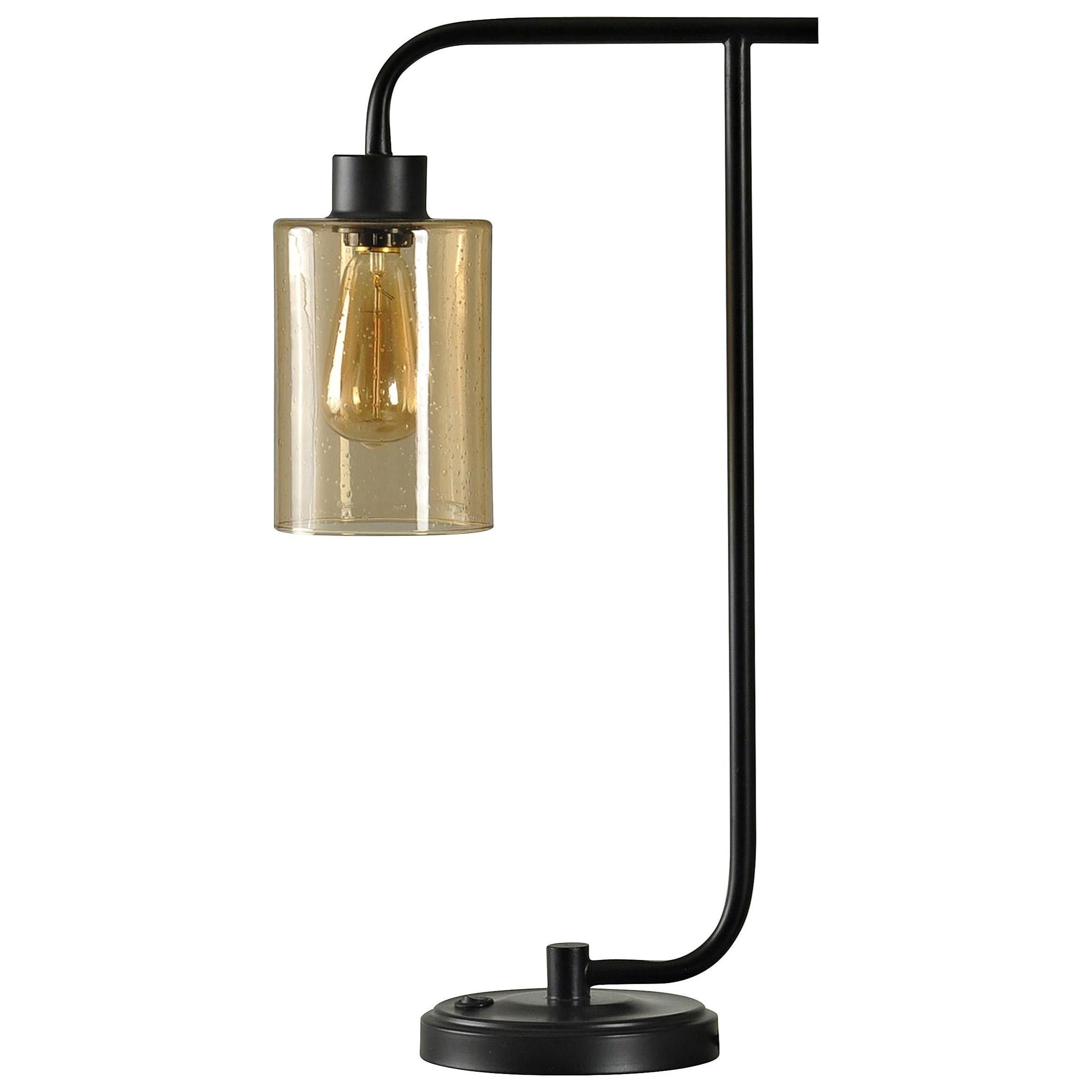 StyleCraft Lamps Glass And Metal Desk Lamp   Hudsonu0027s Furniture   Desk Lamps
