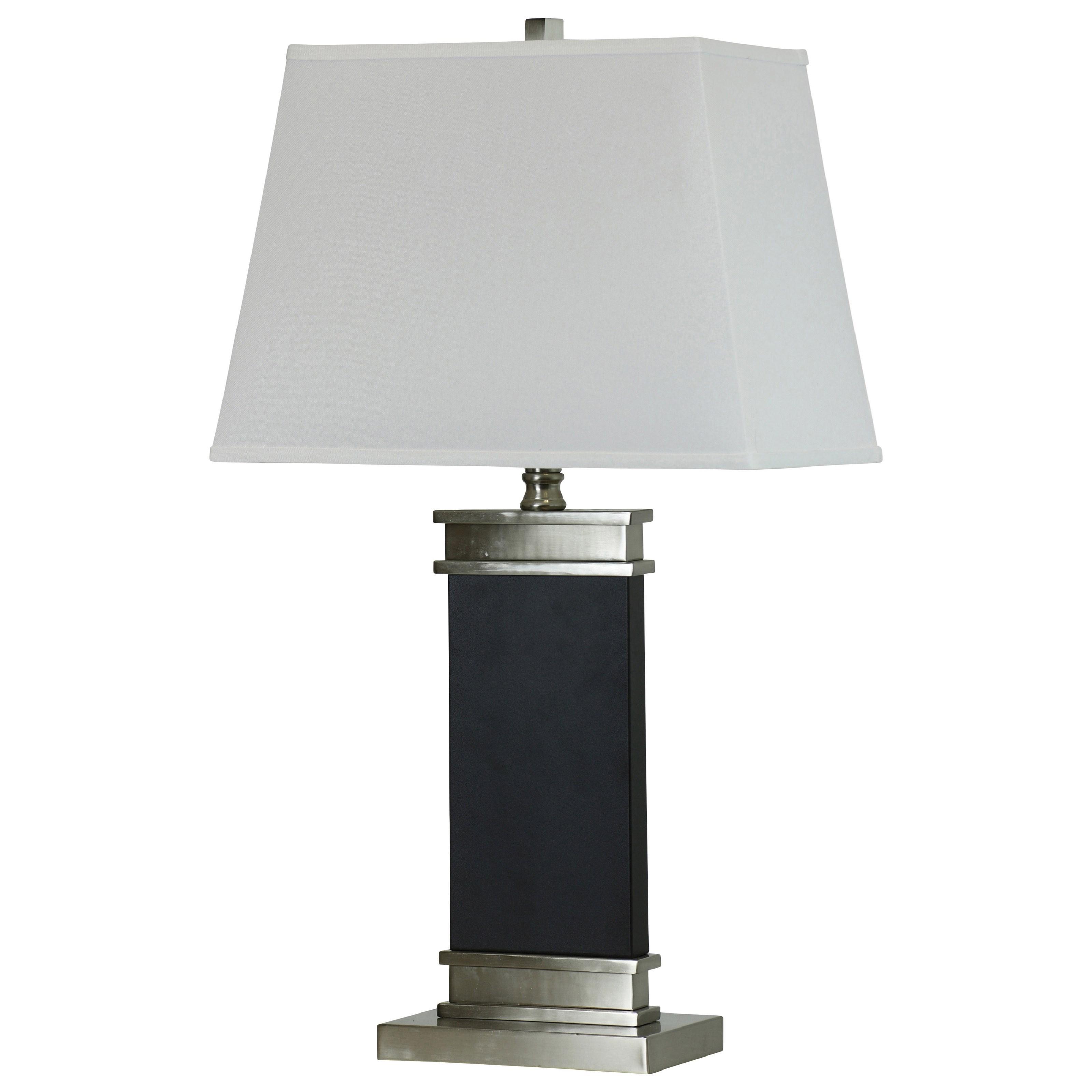 StyleCraft Lamps Black Steel Table Lamp