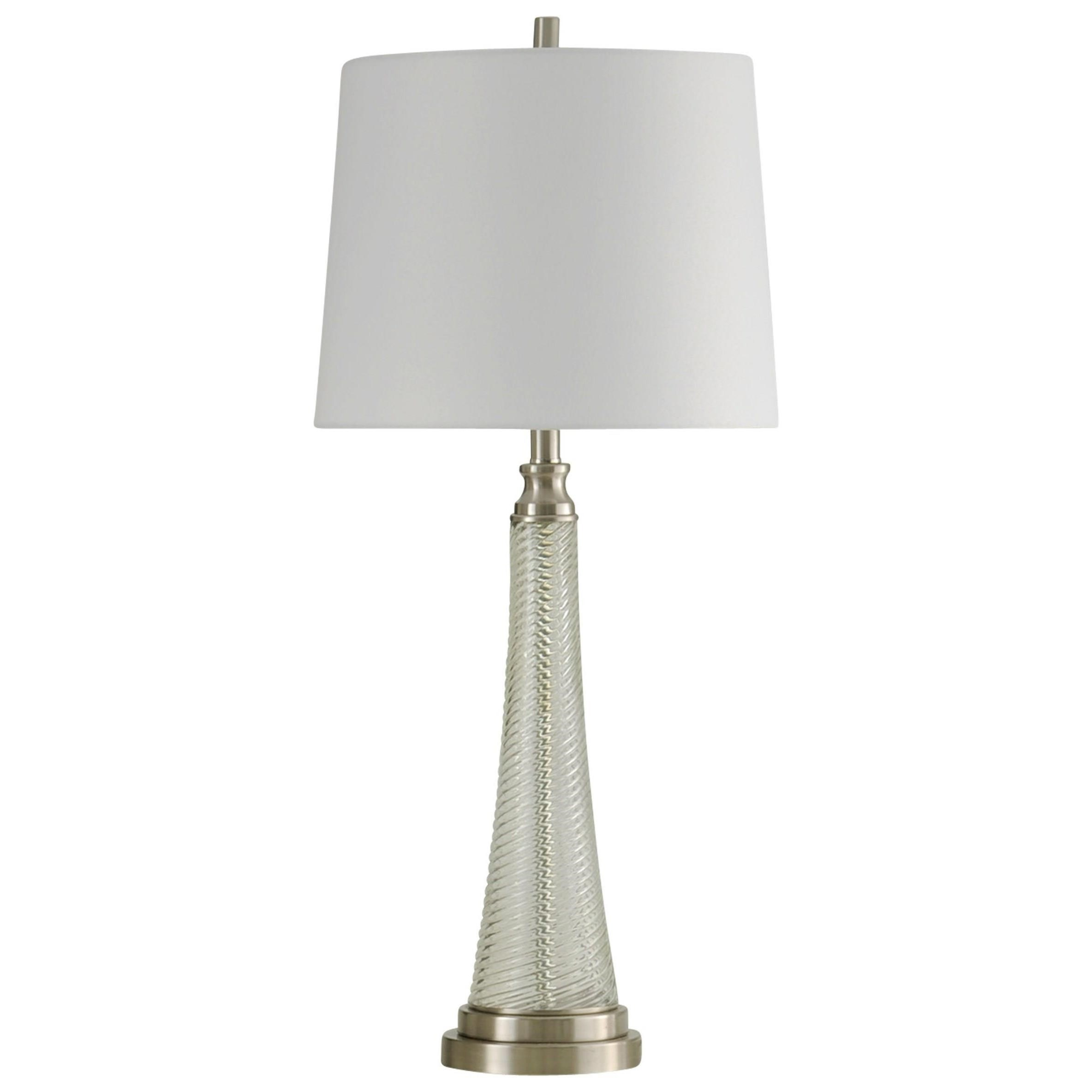 StyleCraft Lamps Table Lamp With Brushed Steel Accents   Hudsonu0027s Furniture    Table Lamps