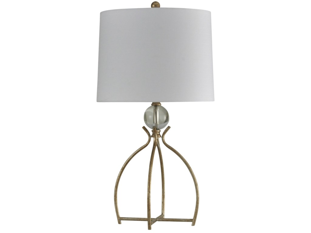 Stylecraft Lampsvalier Gold Metal Base Table Lamp