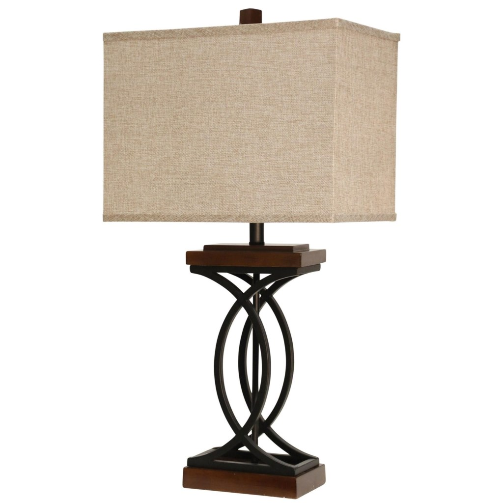 Stylecraft Lamps L312689 Metal And Wood Like Table Lamp Dunk