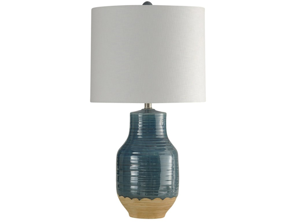 StyleCraft LampsProva Blue Dipped Ceramic Lamp