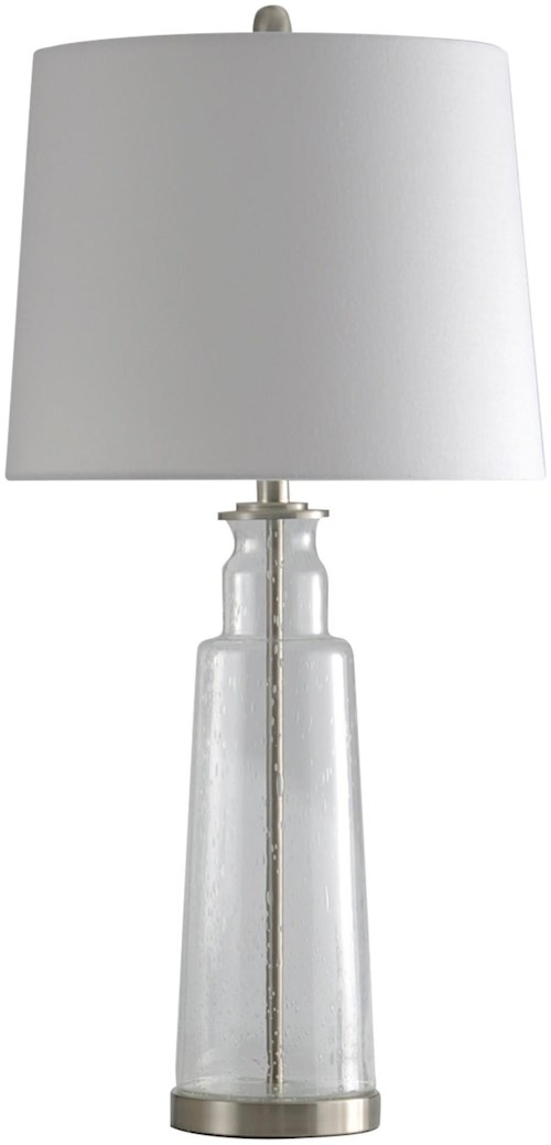 Glass table lamp lamps by stylecraft wilcox furniture table stylecraft lamps glass table lamp aloadofball Image collections