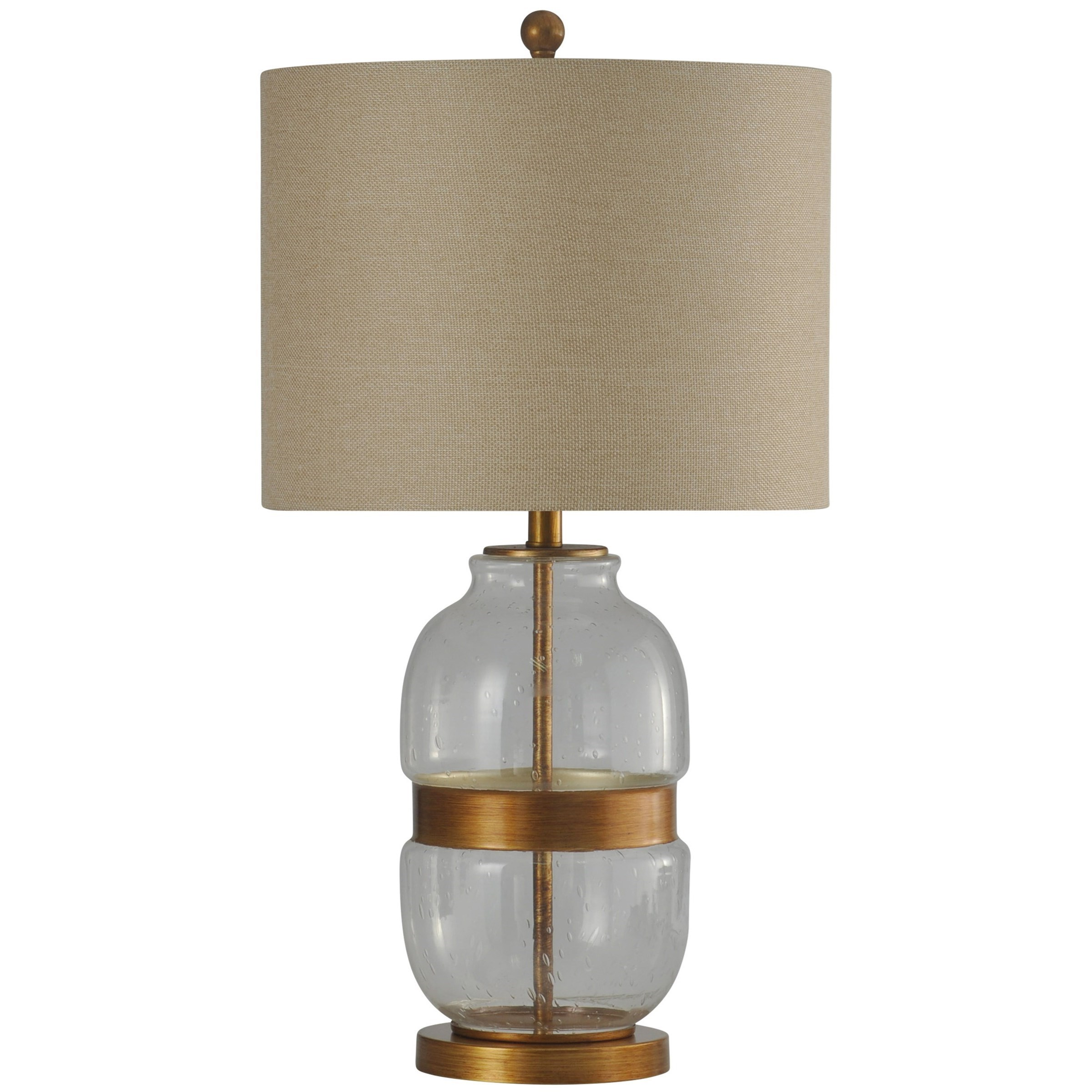 StyleCraft LampsMetal U0026 Glass Base Transitional Table Lamp