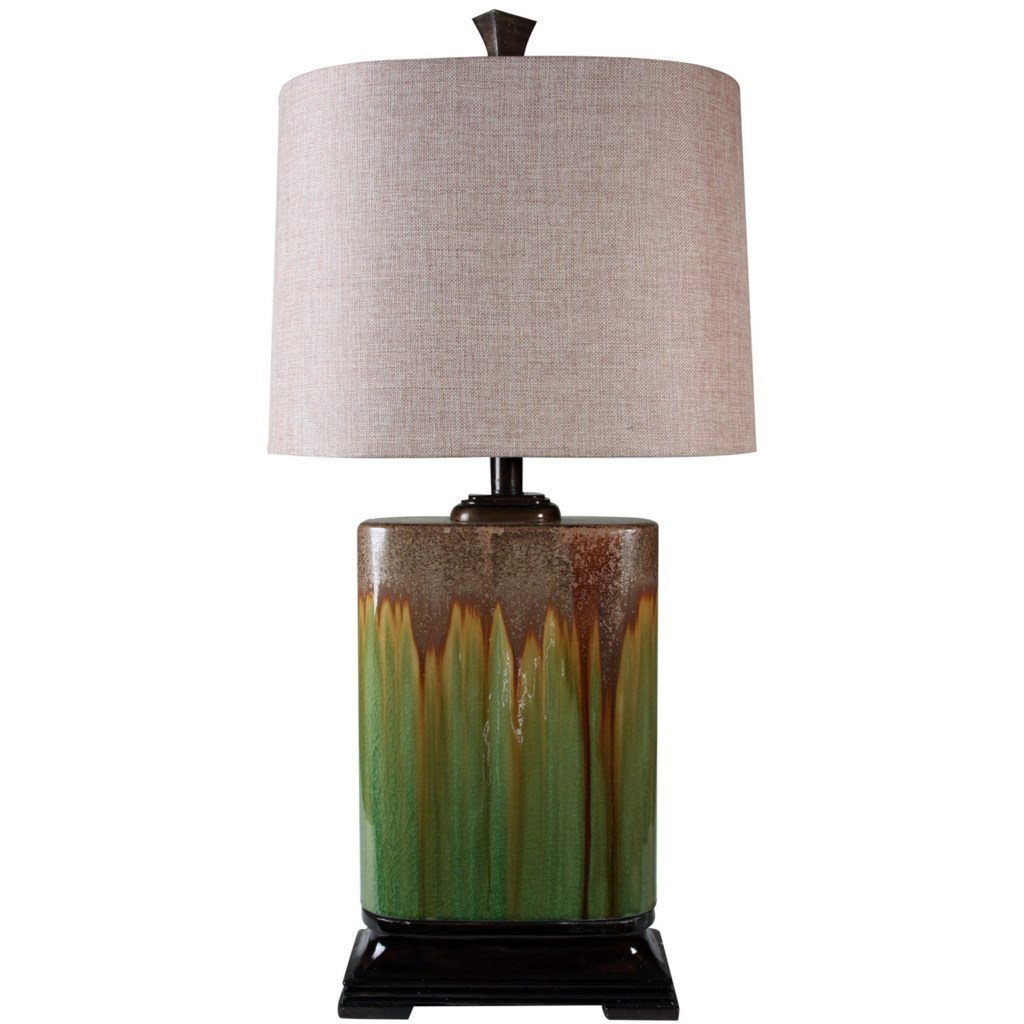 Stylecraft Lamps Green Ceramic Table Lamp Miskelly Furniture