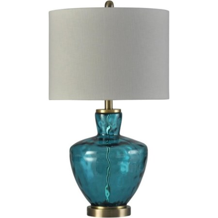 Olivia Blue Glass Lamp