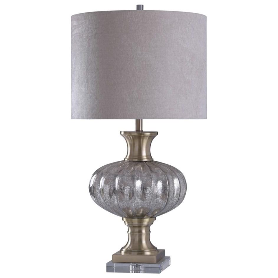 StyleCraft Lamps Steel / Crystal Table Lamp