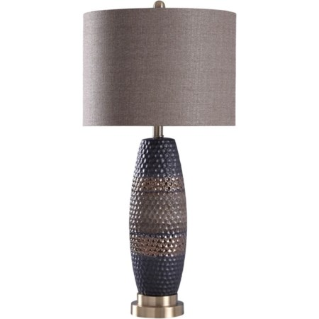 "31"" Ceramic and Steel Table Lamp"