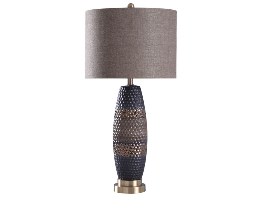 Lamps 31 Ceramic And Steel Table Lamp By Stylecraft At Sam Levitz Furniture