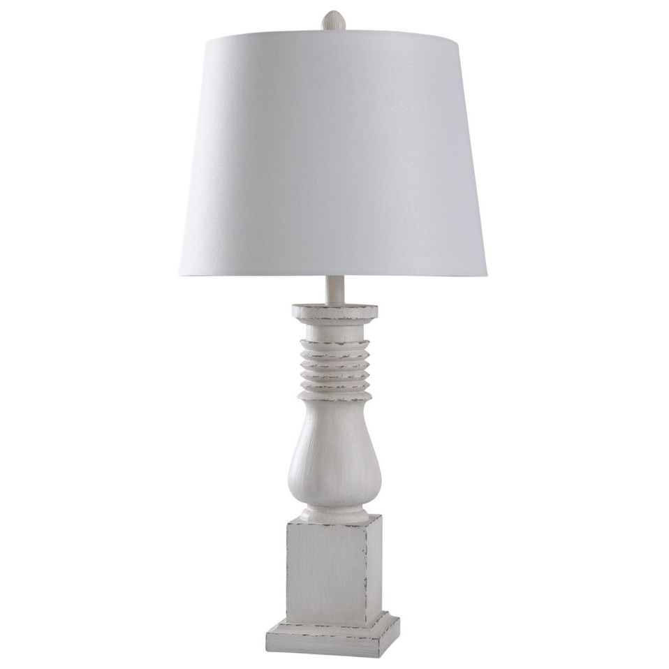 Old White Distressed Lamp Lamps By Stylecraft Wilcox Furniture