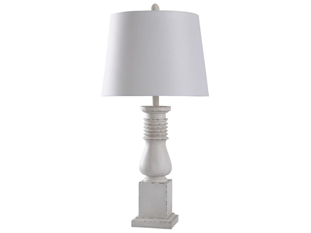 StyleCraft LampsOld White Distressed Lamp