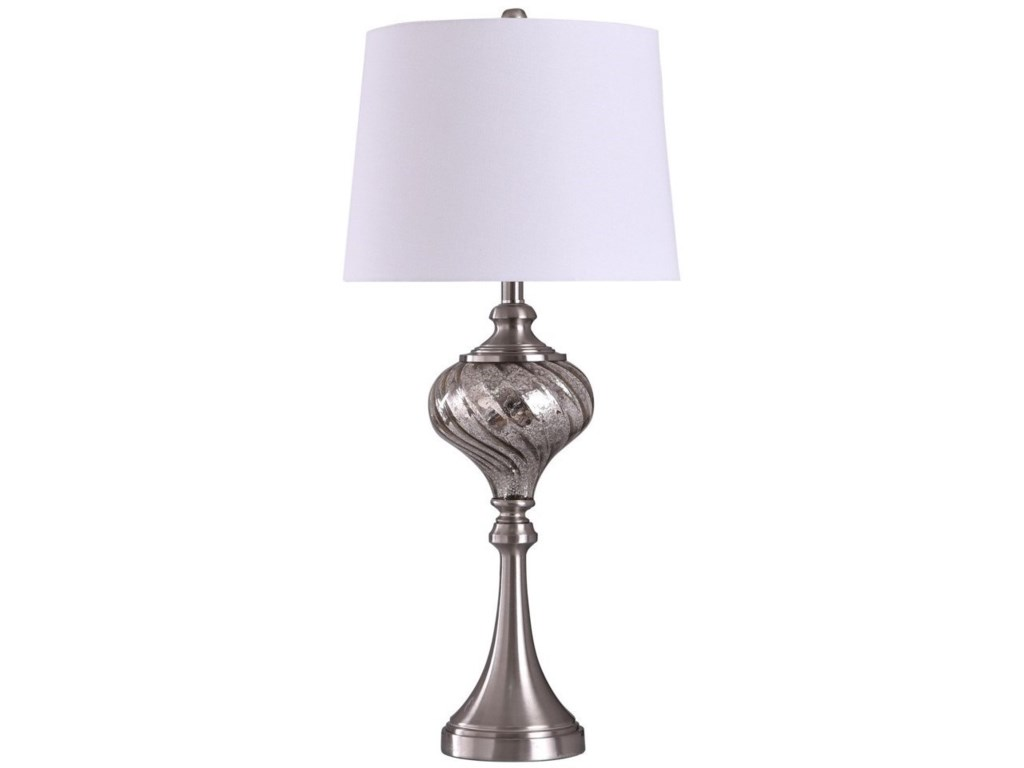 StyleCraft LampsNorthbay Brushed Steel Table Lamp