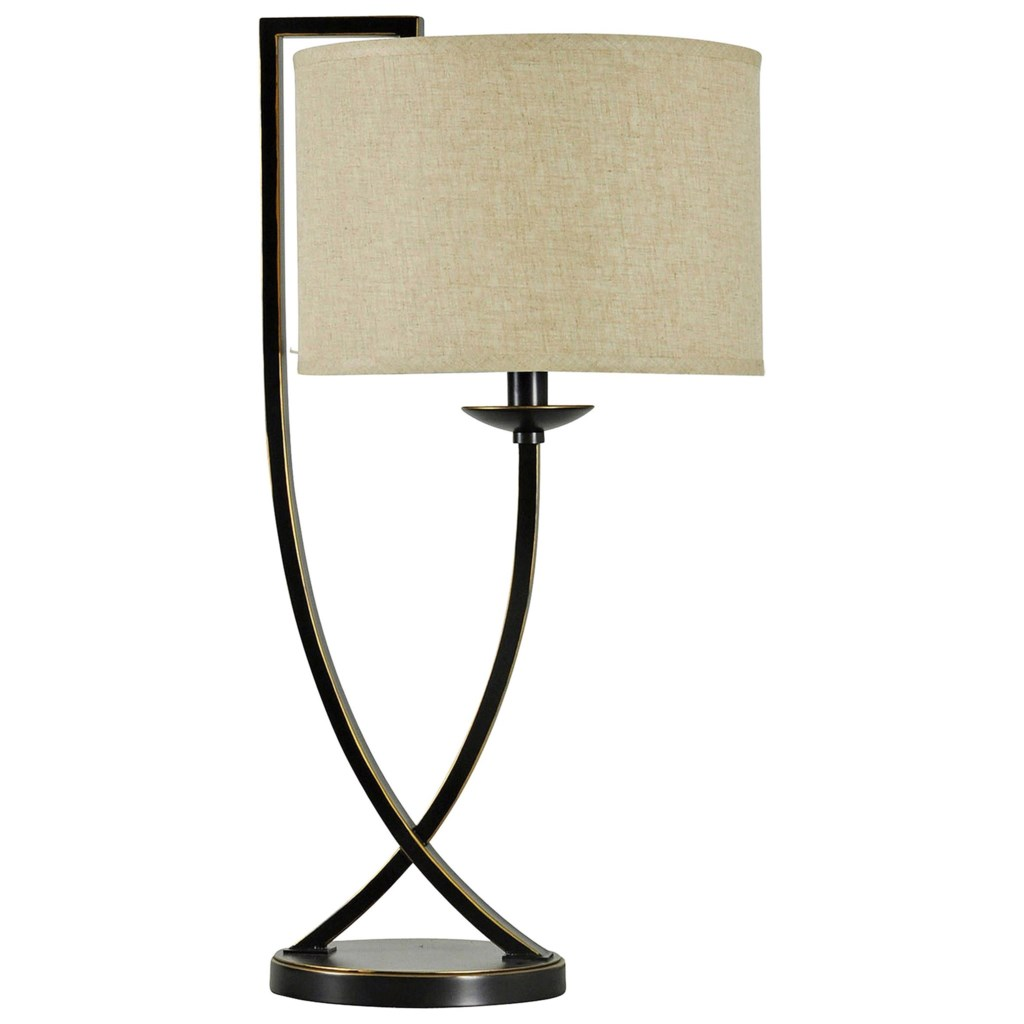 Stylecraft Lamps Bronze Crossed Arm Table Lamp Westrich Furniture