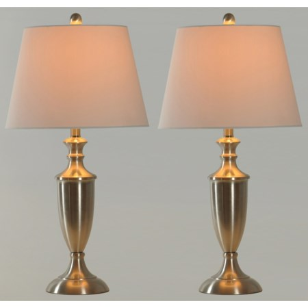 Pair of Steel Table Lamps