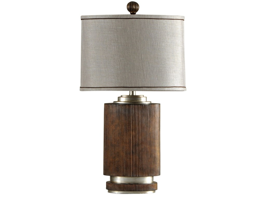 Stylecraft lamps l32576 ribbed wood finish table lamp becker lamps ribbed wood finish table lamp by stylecraft aloadofball Images
