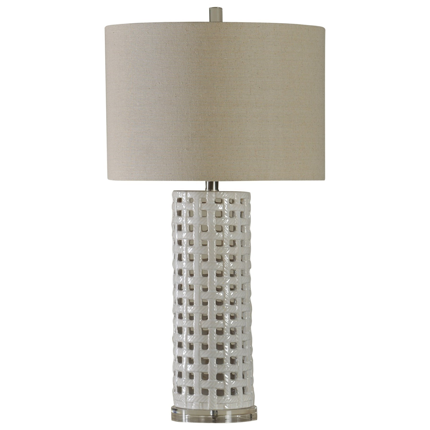 StyleCraft Lamps 31 Inch Ceramic Basket Weave Lamp