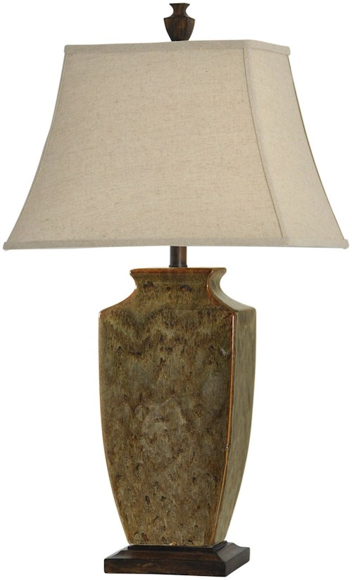 StyleCraft Lamps Earth Tone Reactive Glaze Ceramic Lamp