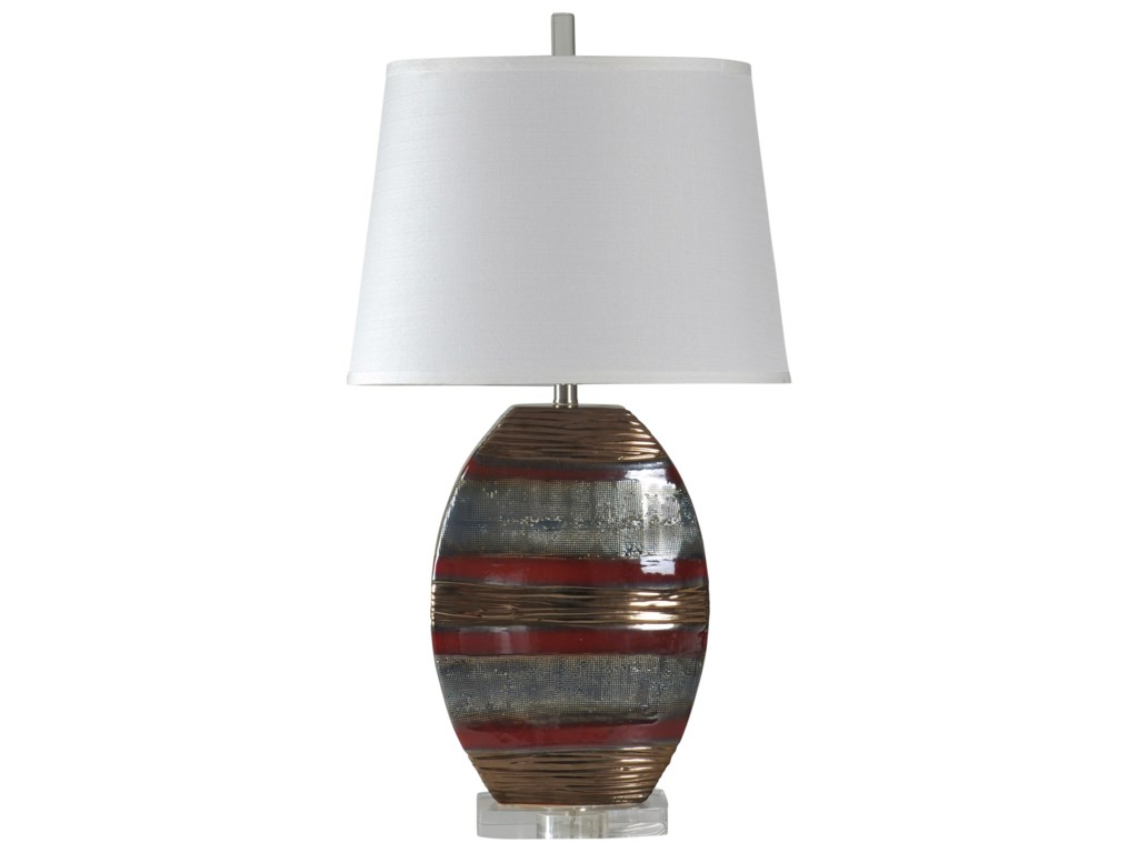StyleCraft LampsEarth Tone Ceramic Lamp