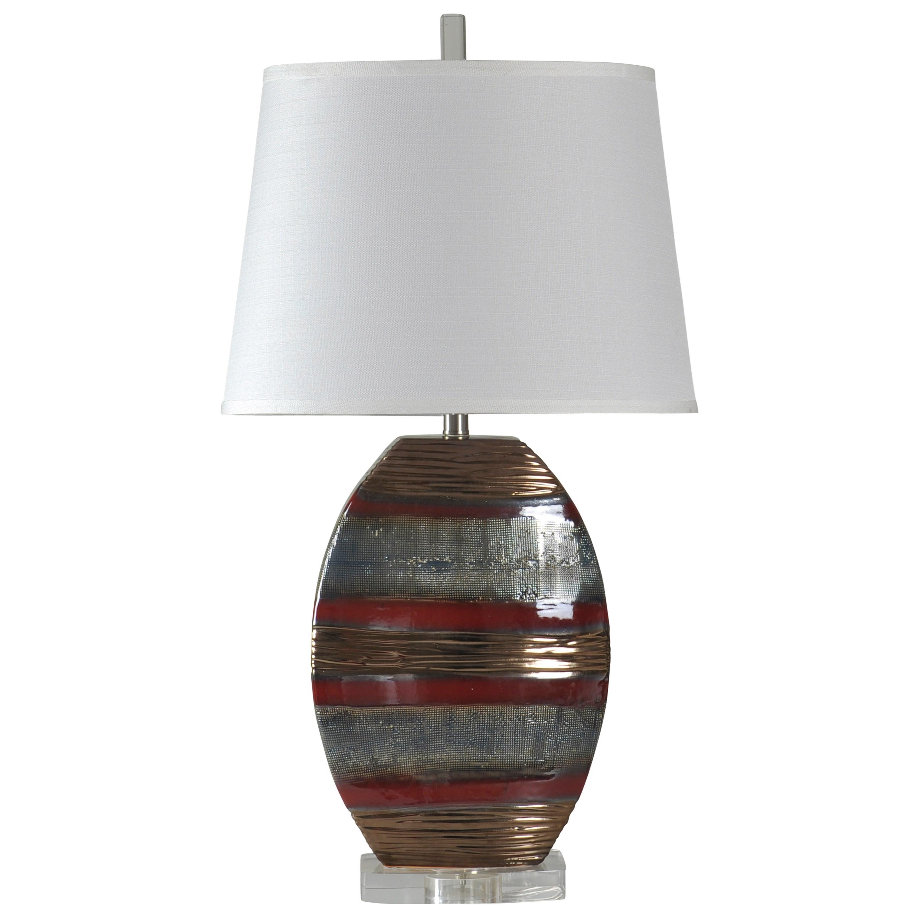 StyleCraft LampsEarth Tone Ceramic Lamp