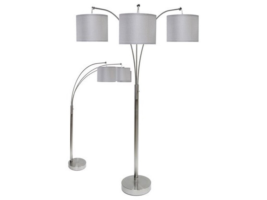 StyleCraft LampsSteel Floor Lamp