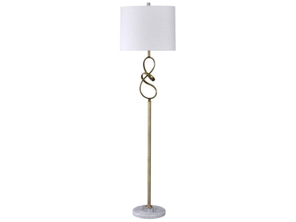StyleCraft LampsMarble / Crystal Floor Lamp