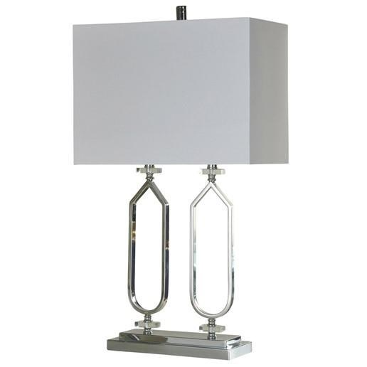 Lamps Chrome Metal Clear Acrylic Table Lamp Ruby Gordon Home