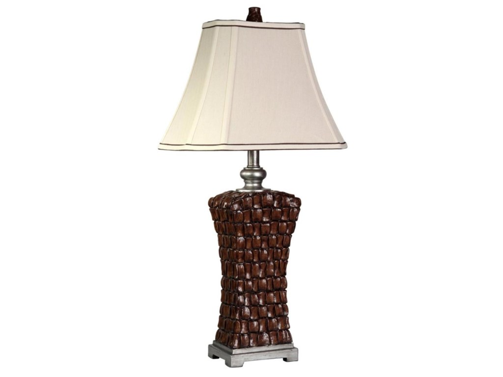 StyleCraft LampsWoven Silver Accents Lamp