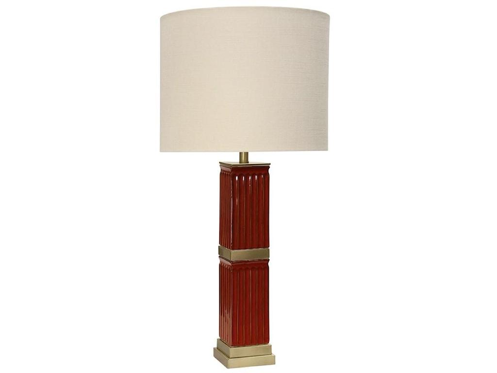 Lamps red ceramic column table lamp ruby gordon home table lamps lamps red ceramic column table lamp aloadofball Images