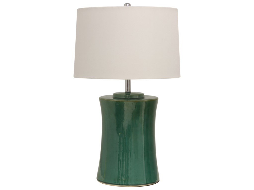 StyleCraft LampsRound Ceramic Table Lamp