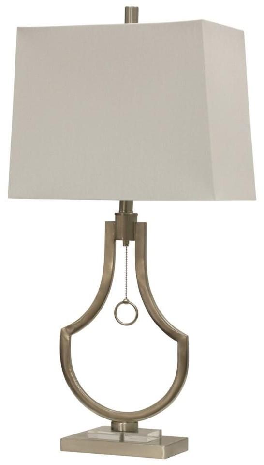 StyleCraft LampsBrushed Steel Table Lamp