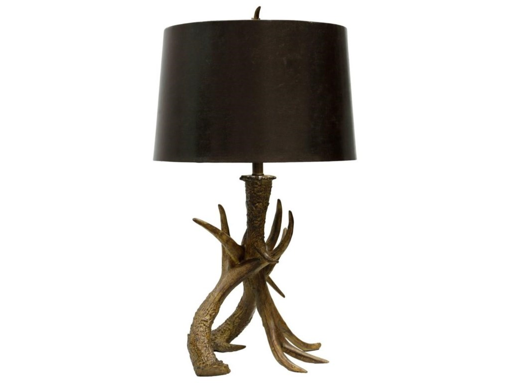Stylecraft lamps l36613 antlers table lamp dunk bright furniture lamps antlers table lamp by stylecraft aloadofball Images
