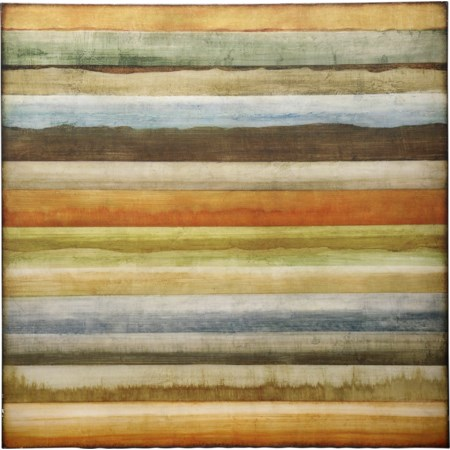 Hand Painted Canvas of Colorful Stripes