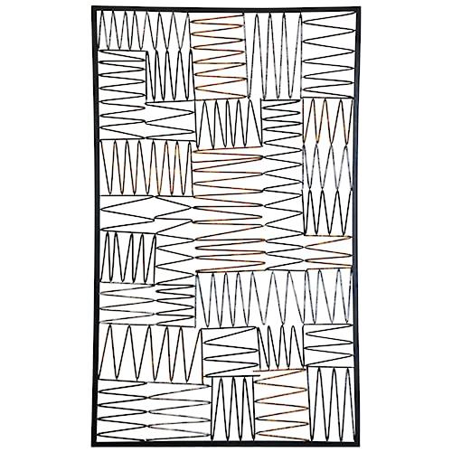 Large Rectangular Metal Openwork Wall Art - Wall Décor by StyleCraft ...
